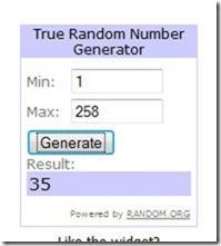 winner number 35