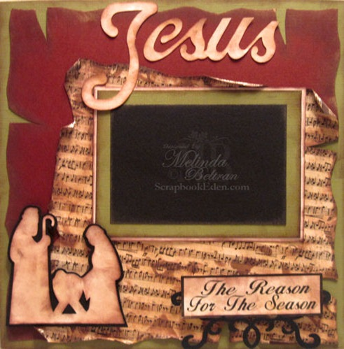 christmas nativity scrapbook layout idea-500