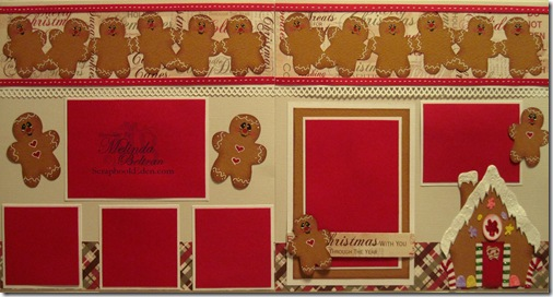 cricut gingerbread layout idea using cartridges and gypsy