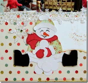 snowman with snowballs by gabycloseup