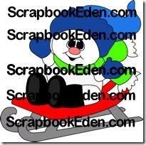 snowman sledding 200jl