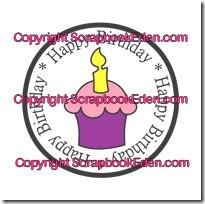 happy birthday cupcake cirlce-200wjl
