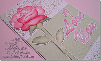 cricut rose image side view