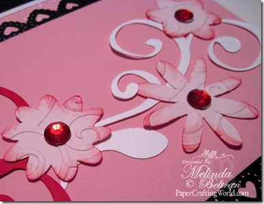 cricut cuttlebug embossed flowers close up