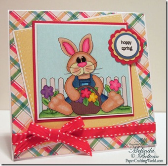 bunny in overalls card-500wjl