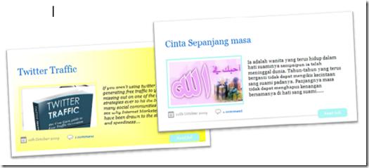 featured post/ menu slider