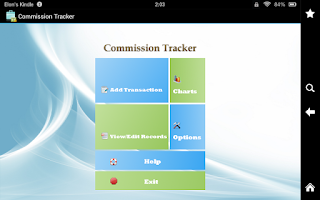 Screenshot of Commission Tracker