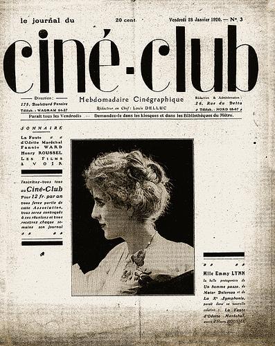 """Capa da revista """"Cine-Club"""" (Imagem: Internet)"""