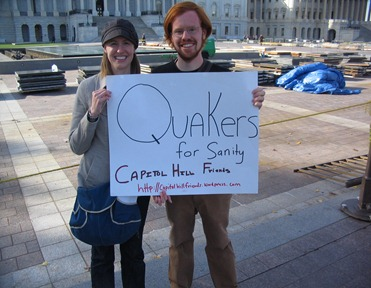 Micah and Faith at the Jon Stewart Rally for Sanity