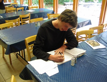 George serving as clerk for the 2010 Quaker Youth Pilgrimage