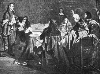 George Fox refuses to take an oath