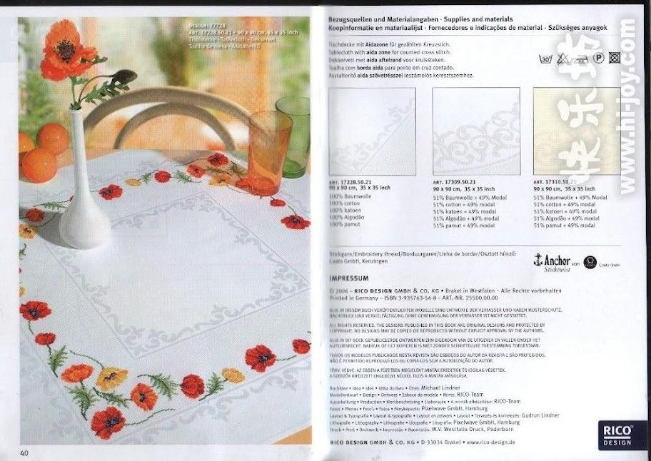 1 kanaviçe masa örtüleri modelleri