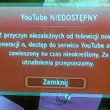 Komunikat o braku dostępu do YouTube - na szczęście nie aktualny :)