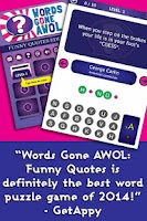Screenshot of Words Gone AWOL: Funny Quotes