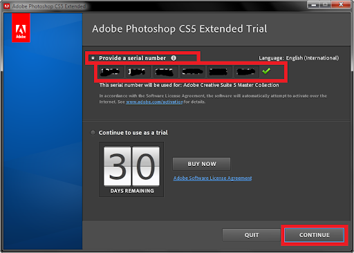 enjoy using your new copy of photoshop cs5 please comment if you have any problems