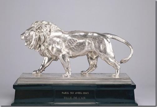 Antoine-Louis Barye Walking Lion Striding Lion