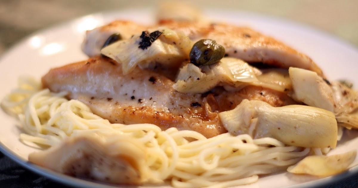 Lauren's Kitchen: Chicken with Artichokes and Angel Hair