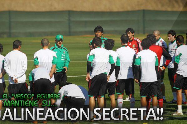 Aguirre quiere mantener su alineacion en secreto