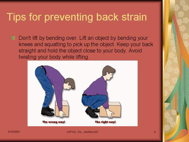 Useful Tips to cure Back Pain