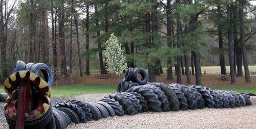 Old Tires Art - Eco Friendly Tire Sculptures