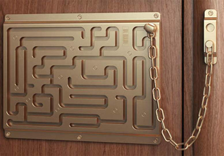 Defendius Door Chain... Solve the maze to get in :)