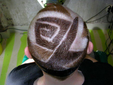 Extreme hair style designs
