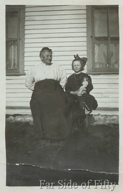 Mrs Anderson with Elsie Glander