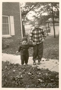 fall Photo two kids