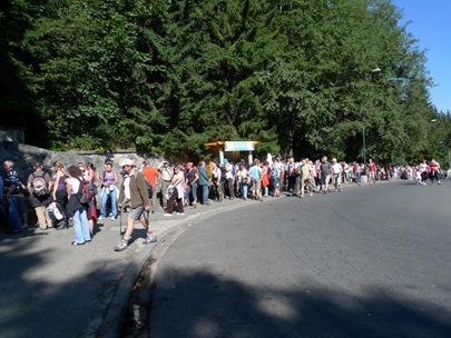 Schlange vor Seilbahn in Kusnice, Zakopane