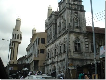 Mosque in downtown Lagos