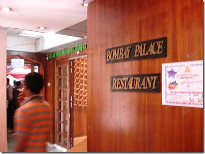 Bombay Palace Restaurent in Lagos