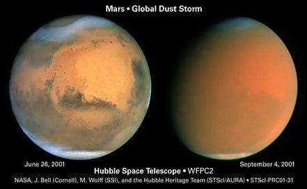 Mars2001GlobalDustStormHubble