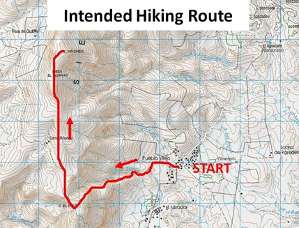 Intended Hiking Route