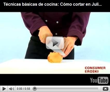 El gourmet urbano t cnicas b sicas de cocina como cortar en juliana consumer eroski - Tecnicas basicas de cocina ...