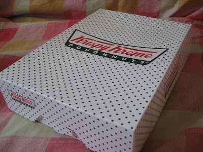 The famous Krispy Kreme box