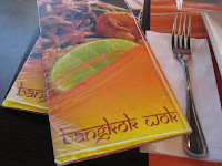Menu cards for Bangkok Wok