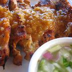 Moo Sate (Grilled Pork Strips) at Bangkok Wok