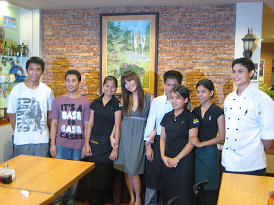 Cris Pastor with the staff of Molave Homestyle Bistro