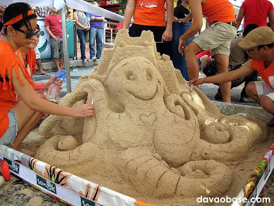 Very creative concept from one of the contestants of the Sanuk Sandcastle Competition in Davao City
