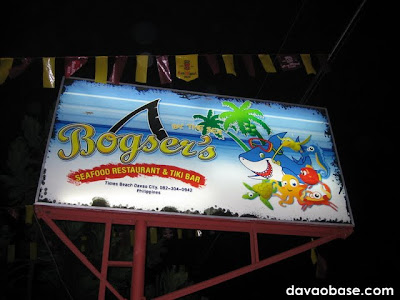 Bogser's By The Sea Seafood Restaurant and Tiki Bar at Times Beach, Davao City