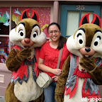 Wifey with Chip and Dale in Halloween costumes