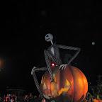 A giant Jack Skellington leads the Halloween parade at Disneyland Hong Kong