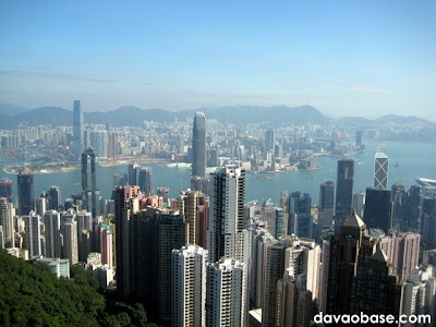 The Hong Kong skyline, looking from The Peak