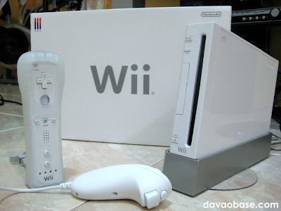 Nintendo Wii console, with remote and nunchuck controller