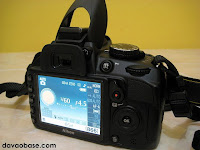 Nikon D3100 LCD screen and built-in flash activated
