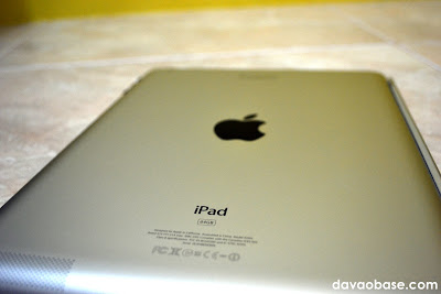 Shiny metal back of iPad 2 64GB