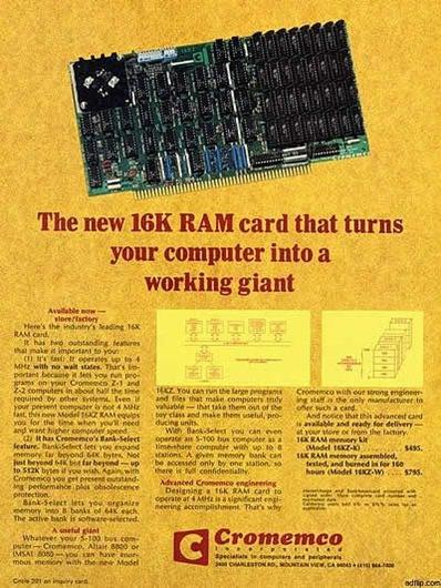 16K RAM card