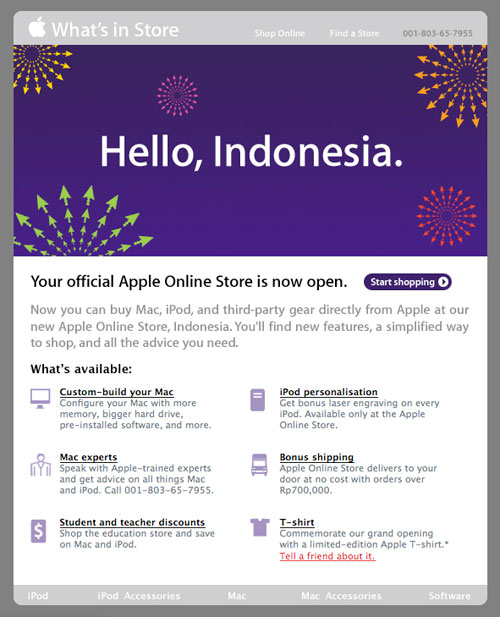 Apple Store: Hello, Indonesia