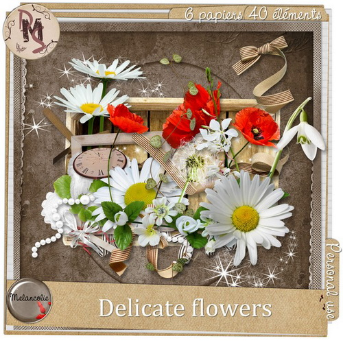 Scrap-Kit - Delicate Flowers