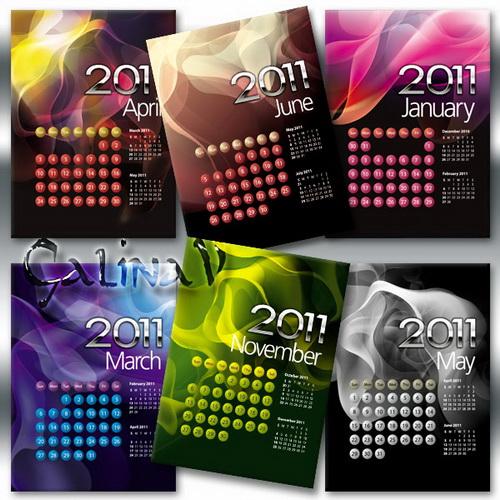 Яркий карманный календарь на 2011 год